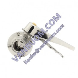 1inch Manual Stainless Steel Butterfly Valve Price List With Tamper Switch