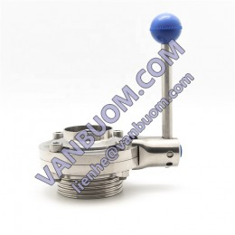 Easy to operate sanitary stainless steel threaded butterfly valve