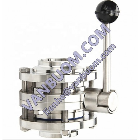 Sanitary Stainless Steel DN80 DN100 DN150 PN16 Manual Three Pieces Butterfly Valve