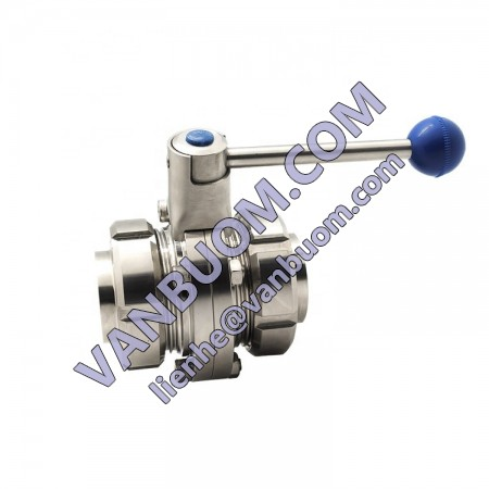 Stainless Steel 316L Sizes DN15-DN300 Sanitary Manual Butterfly Valve